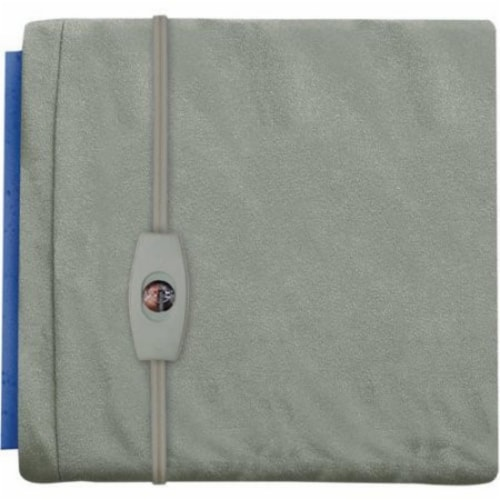Sunbeam Small Vinyl Gray Heating Pad Perspective: front