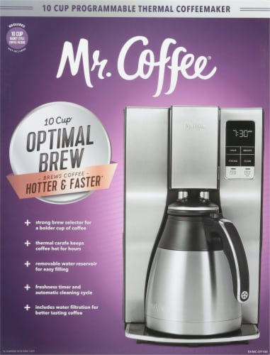 Mr. Coffee® Stainless Steel Thermal Programmable Coffee Maker Perspective: front
