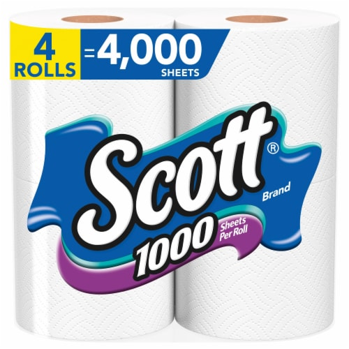 Scott Unscented Bathroom Tissue Perspective: front