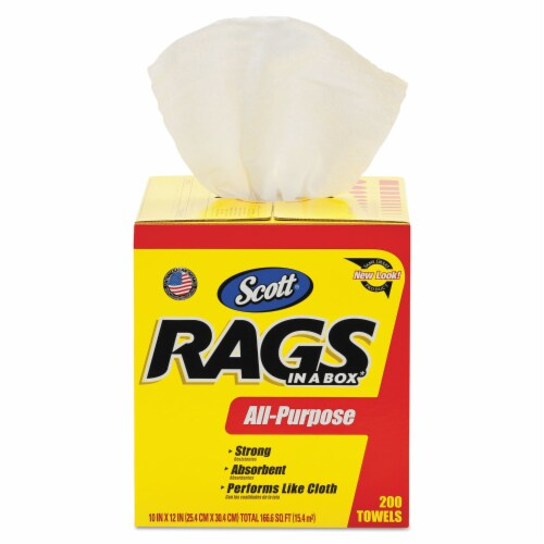 Scott® All-Purpose Rags in a Box Perspective: front