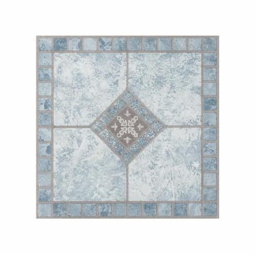 Portfolio 12x12 2.0mm Self Adhesive Vinyl Floor Tile - Blue Diamond - 9 Tiles/9 sq. ft. Perspective: front