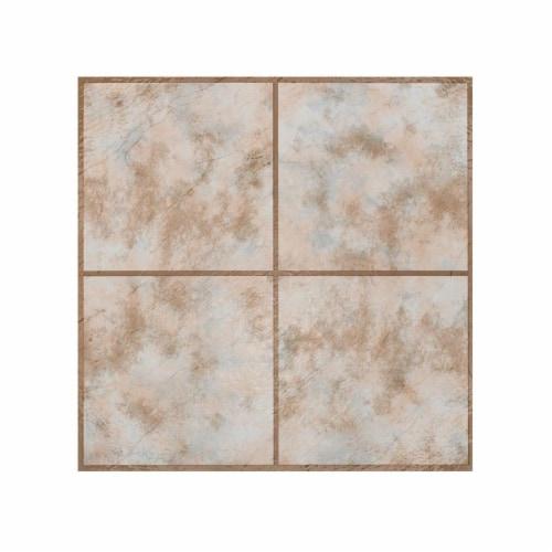 Portfolio 12x12 2.0mm Self Adhesive Vinyl Floor Tile - Rustic Clay Square - 9 Tiles/9 sq. ft. Perspective: front