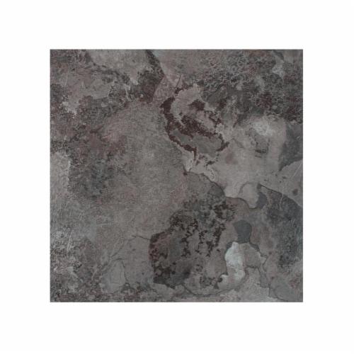 Portfolio 12x12 2.0mm Self Adhesive Vinyl Floor Tile - Midnight Marble - 9 Tiles/9 sq. ft. Perspective: front