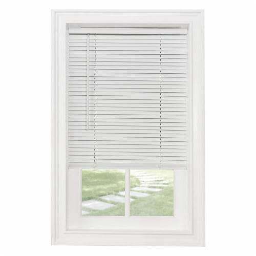 Achim GII Morningstar 60 x 64 Inch Cordless Vinyl Window Light Filtering Blinds Perspective: front