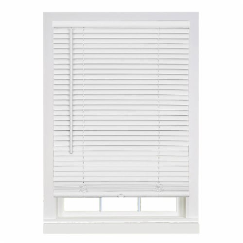 "Cordless GII Deluxe Sundown 1"" Room Darkening Mini Blind 39x64 - Pearl White Perspective: front"