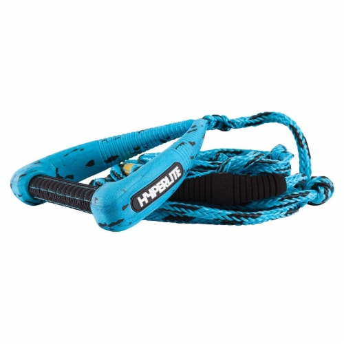 Hyperlite 97000047 25 Foot RIOT Surf Wakeboard Waterski Rope with Handle, Blue Perspective: front
