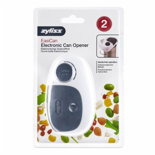 Zyliss EasiCan Electronic Opener - White Perspective: front