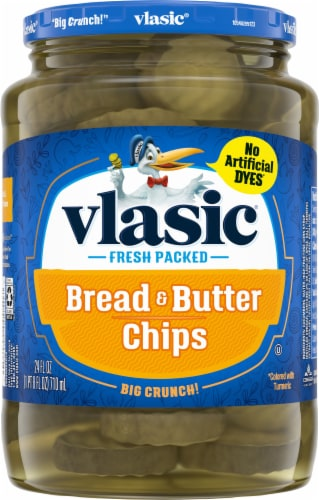 Vlasic Bread & Butter Pickle Chips Perspective: front