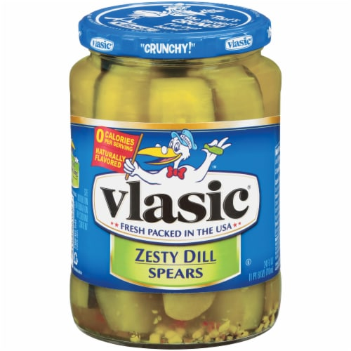 Vlasic Zesty Dill Pickle Spears Perspective: front