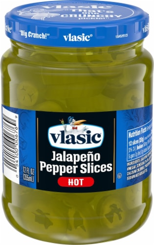 Vlasic Deli Style Hot Jalapeno Pepper Slices Perspective: front