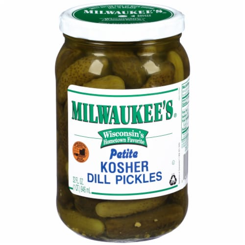Milwaukee's Kosher Whole Petite Dill Pickles Perspective: front