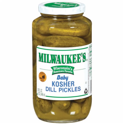 Milwaukee's Kosher Whole Baby Dill Pickles Perspective: front