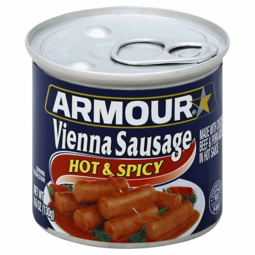 Armour Hot & Spicy Vienna Sausage Perspective: front