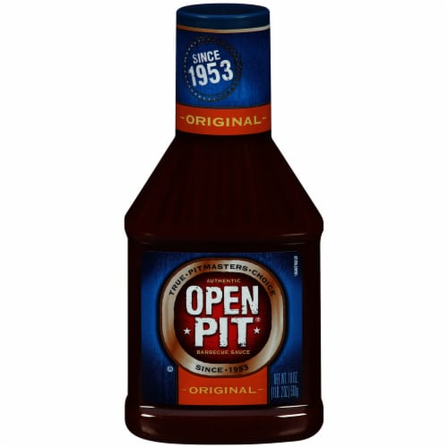 Open Pit Blue Label Original Barbecue Sauce Perspective: front