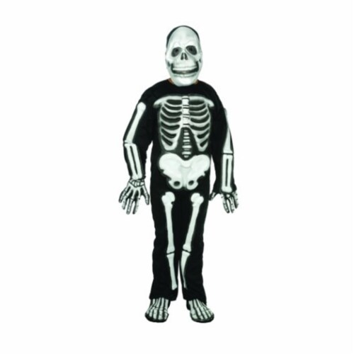 RG Costumes 90001-S Skeleton Costume - Size Child Small 4-6 Perspective: front