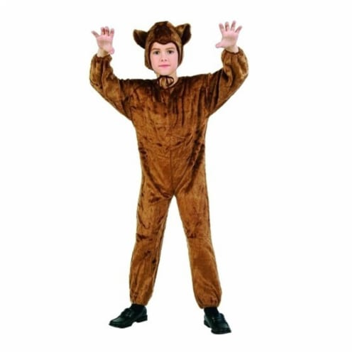 RG Costumes 70075-S  Bear Jumpsuit - Plush - Size Child-Small Perspective: front