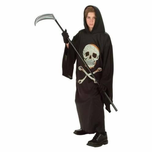 RG Costumes 90129-S Warlock Glow In The Dark Print Costume - Size Child-Small Perspective: front