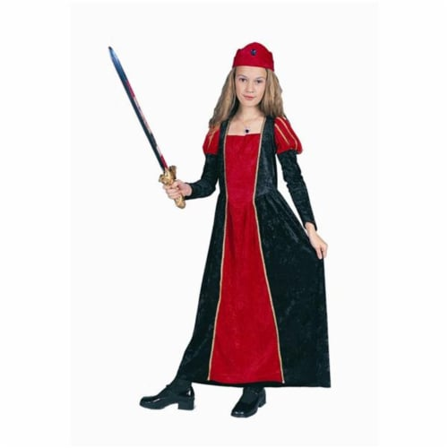 RG Costumes 91164-R-S Renaissance Queen Red Costume - Size Child-Small Perspective: front