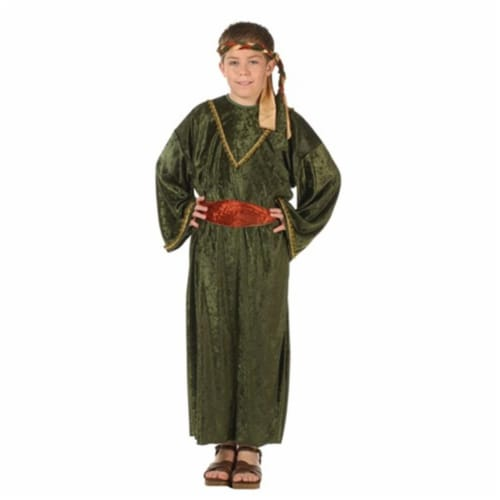 RG Costumes 90282-S Deluxe Wiseman Child Costume - Olive - Size S Perspective: front