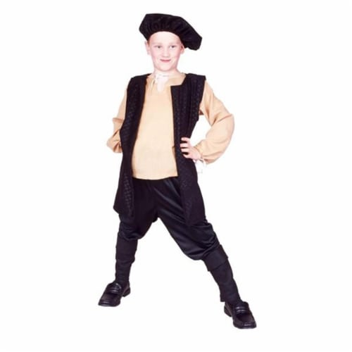 RG Costumes 90313-S-BK Black Renaissance Boy Costume - Size Child-Small Perspective: front