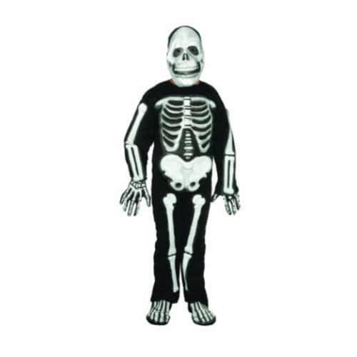 RG Costumes 90001-M Skeleton Costume - Size Child Medium 8-10 Perspective: front