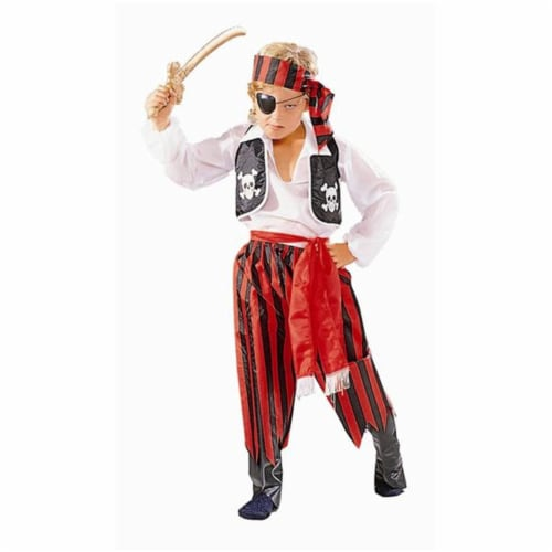 RG Costumes 90009-RBK- M Pirate Boy Red-Black Pants Costume - Size Child-Medium Perspective: front
