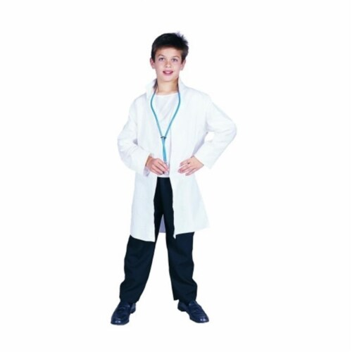 RG Costumes 90030-M Lab Coat Costume - Size Child Medium 8-10 Perspective: front