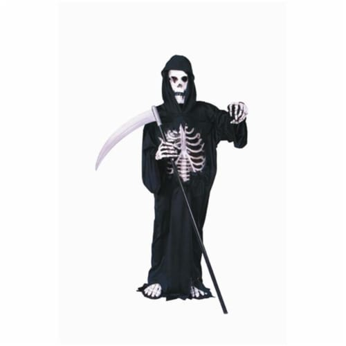 RG Costumes 90038-M Dark Reaper Costume With 3D Chest - Size Child-Medium Perspective: front