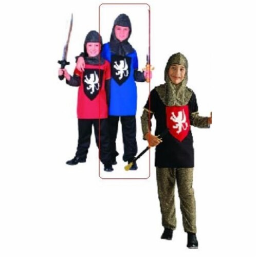 RG Costumes 90048-BL-M Medieval Blue Knight Costume - Size Child-Medium Perspective: front