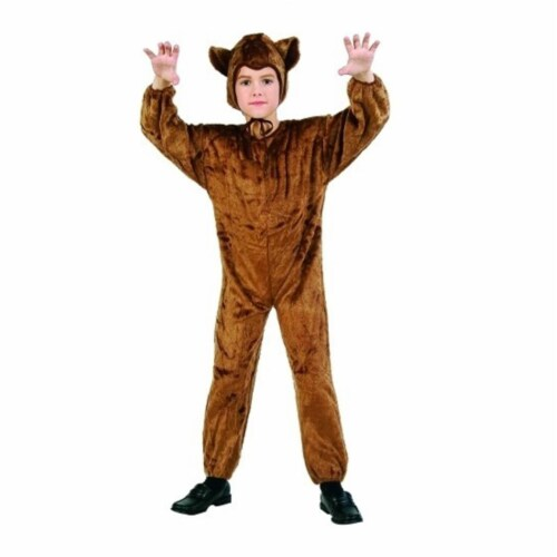 RG Costumes 70075-M Bear Jumpsuit - Plush - Size Child-Medium Perspective: front