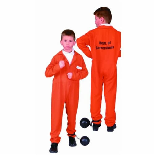 RG Costumes 90108-M Escaped Convict Costume - Size Child-Medium Perspective: front