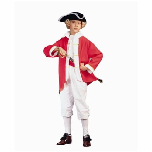 RG Costumes 90133-R-M Colonial Captain - Red Costume - Size Child-Medium Perspective: front