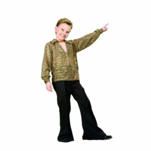 RG Costumes 90170-M  Disco Boy Costume - Gold - Size Child Medium 8-10 Perspective: front