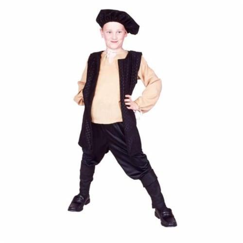 RG Costumes 90313-M-BK Black Renaissance Boy Costume - Size Child-Medium Perspective: front