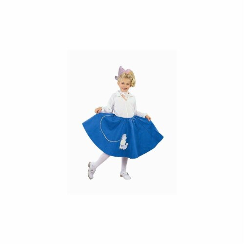 RG Costumes 91031-BL-S Blue Poodle Skirt Costume - Size Child-Small Perspective: front