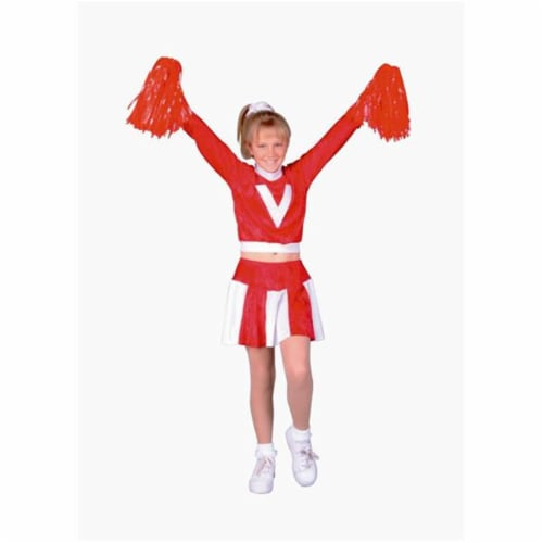 RG Costumes 91135-S Red Velvet Cheerleader Costume - Size Child-Small Perspective: front