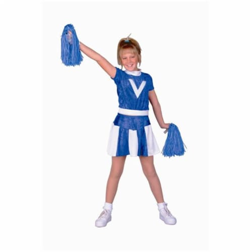 RG Costumes 91136-S Blue Velvet Cheerleader Costume - Size Child-Small Perspective: front