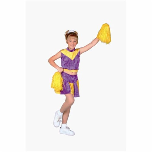 RG Costumes 91137-S Purple Velvet Cheerleader Costume - Size Child-Small Perspective: front