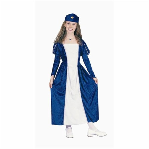 RG Costumes 91164-BL-S Renaissance Queen Blue Costume - Size Child-Small Perspective: front
