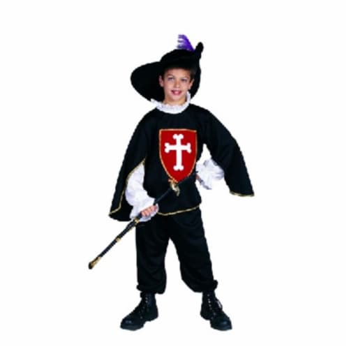 RG Costumes 90177-BK-S Black Musketeer Boy Costume - Size Child-Small Perspective: front