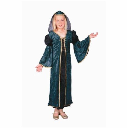RG Costumes 91223-S Green Velvet Juliet Costume - Size Child-Small Perspective: front