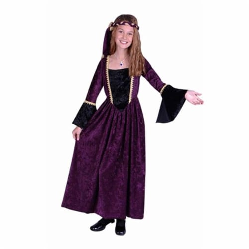RG Costumes 91264-S Renaissance Girl Burgundy Costume - Size Child-Small 4-6 Perspective: front