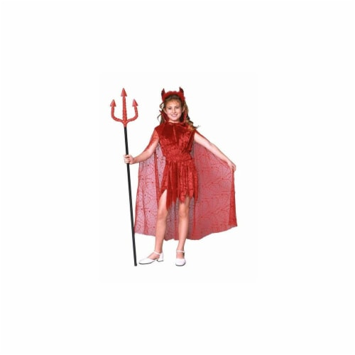 RG Costumes 91281-S Glamour Devil With Cape Costume - Size Child-Small Perspective: front