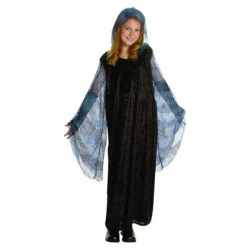 RG Costumes 91414-S Small Venus Dress with Mesh Hood Costume - Blue Perspective: front