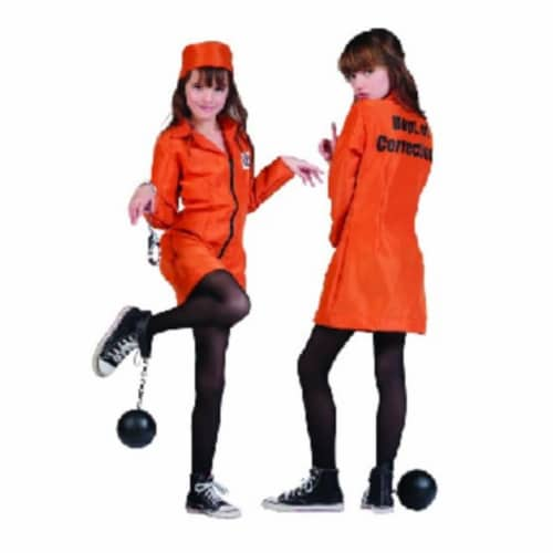RG Costumes 91419-S Not GuiltyJail Girl Costume - Size Child-Small Perspective: front