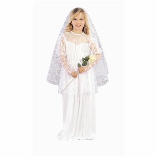 RG Costumes 91001-M Pretty Bride Girl Costume - Size Child-Medium Perspective: front