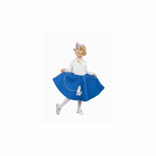 RG Costumes 91031-P-M Pink Poodle Skirt Costume - Size Child-Medium Perspective: front