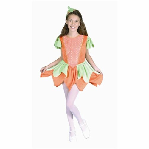RG Costumes 91043-M Pumpkin Princess Costume - Size Child-Medium Perspective: front