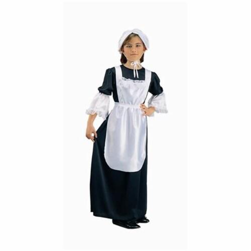 RG Costumes 91067-M Pilgrim Girl Costume - Size Child-Medium Perspective: front