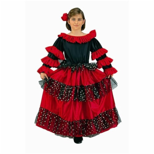RG Costumes 91071-M Spanish Beauty Costume - Size Child-Medium Perspective: front